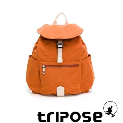 tripose MEMENTO微皺尼龍輕量後背包-小(躍動橘)