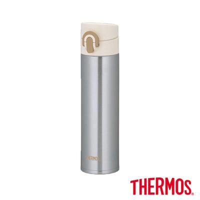 THERMOS膳魔師 超輕量彈蓋 不鏽鋼真空保溫瓶0.4L(JNI-400-SL)