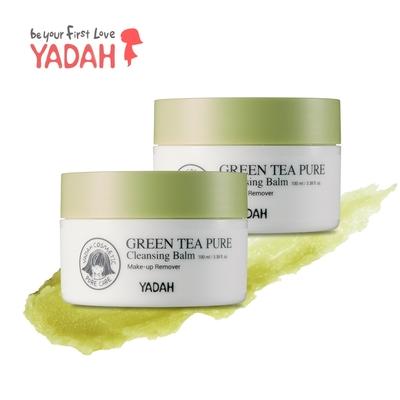 (即期品)(2入組)【YADAH】綠茶純淨潔膚卸妝膏100ml(效期2022/4/22)