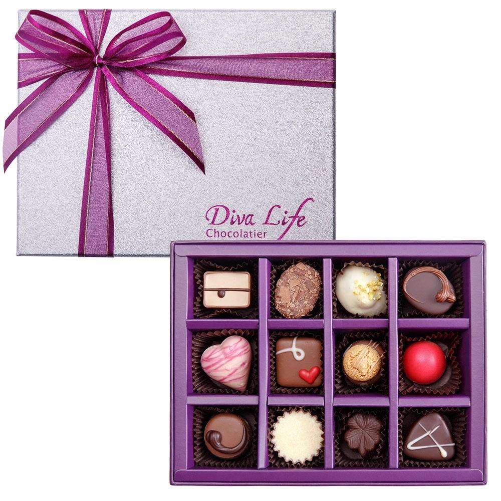 Diva Life 比利時巧克力12入(經典禮盒)