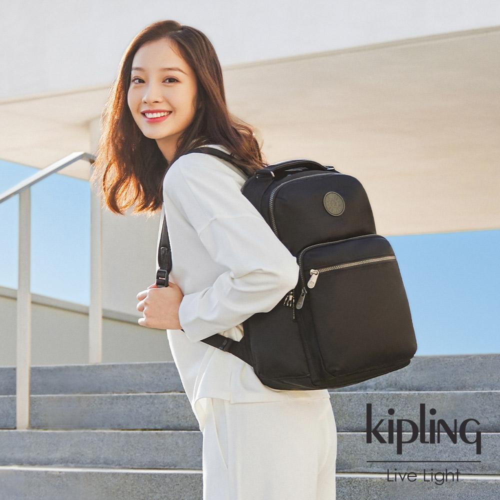 Kipling 極致低調黑大容量手提後背包-OSHO