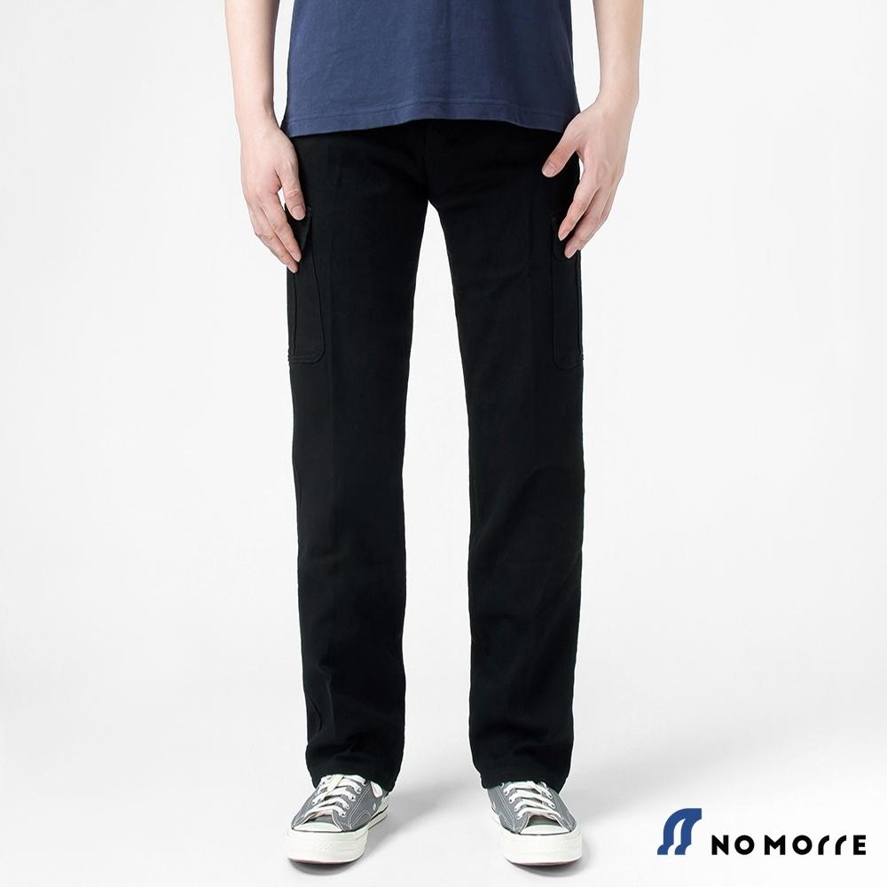 NoMorre 高磅數耐磨彈性直筒六口袋工作褲-黑色