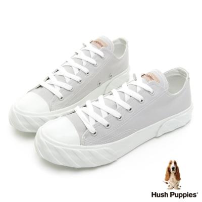Hush Puppies 素色百搭經典款餅乾鞋-淺灰