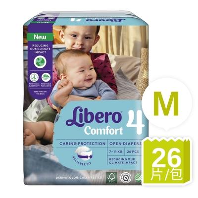 Libero麗貝樂 黏貼式嬰兒紙尿褲/尿布 4號/M (26片) /包購