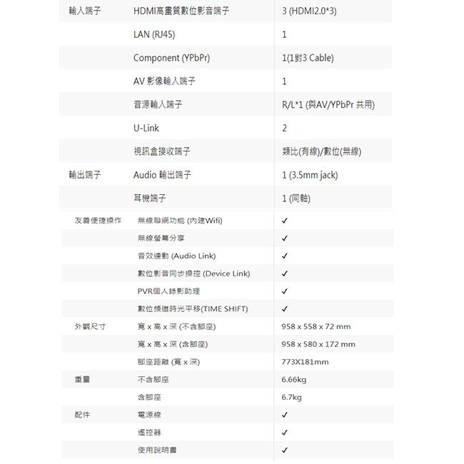 CHIMEI奇美 43吋 4K HDR低藍光智慧連網液晶電視 TL-43M500