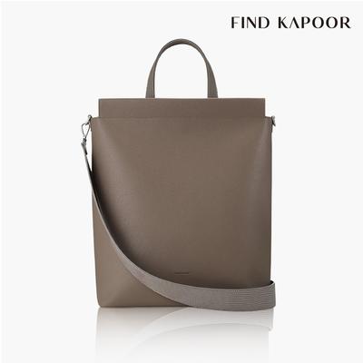 【FIND KAPOOR】TOTE 30 BASIC系列蜥蜴壓紋托特包- 灰褐色