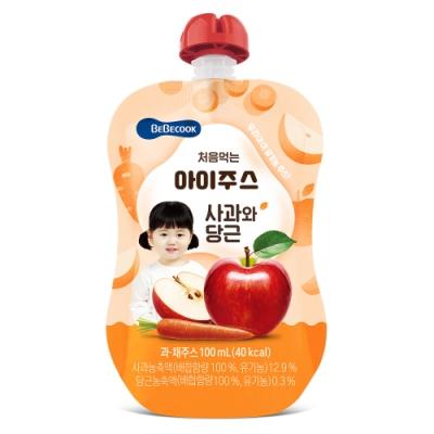 韓國 【BEBECOOK】 嬰幼兒果汁2入組(蘋果紅蘿蔔)