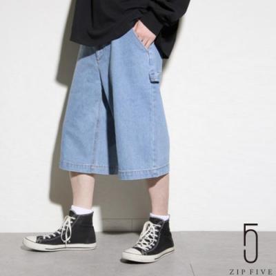 ZIP日本男裝 UNCORD 寬版畫家工裝丹寧短褲 落色加工 (6色)