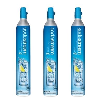Sodastream二氧化碳交換鋼瓶425g(三入組)(須有3支空鋼瓶供交換滿鋼瓶)
