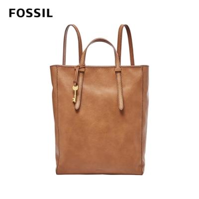FOSSIL CAMILLA 真皮三用後背包 (可置入13吋筆電)-駝色 ZB7517231
