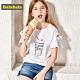 Balabala巴拉巴拉-冰淇淋圖案造型袖上衣-女(5色) product thumbnail 1
