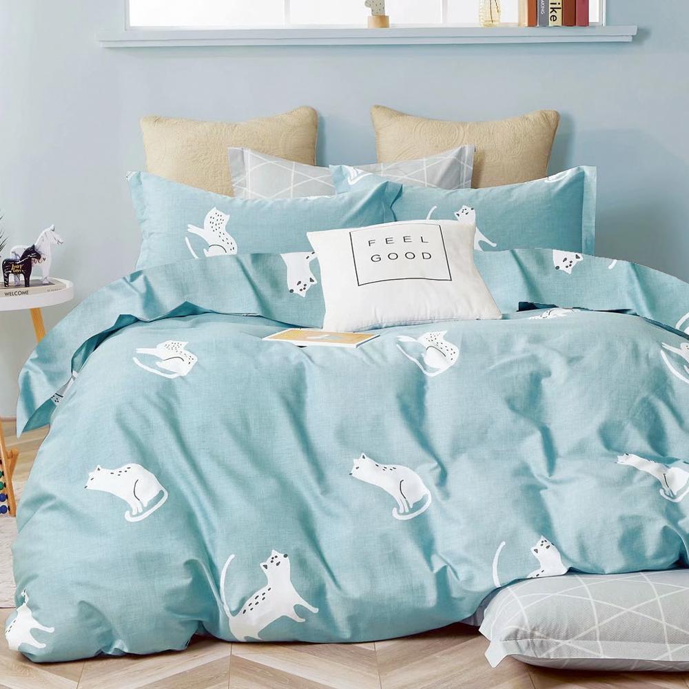 A-ONE 100%純棉 枕套床包組單/雙/大 均一價(限時下殺) product image 1