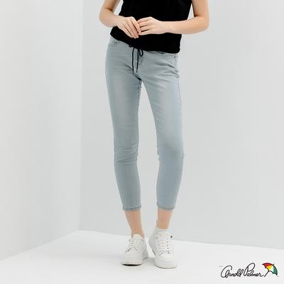 Arnold Palmer -女裝-基本款合身牛仔褲-淺藍色