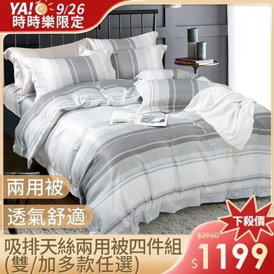 (限時下殺) DON  吸濕排汗天絲兩用被床包組-單/雙/加 均一價