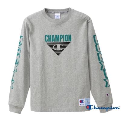 Champion AS LOGO印花長袖TEE 灰色