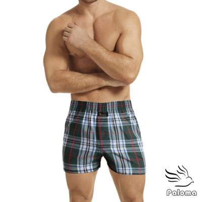男內褲 Paloma五片式格紋平口褲