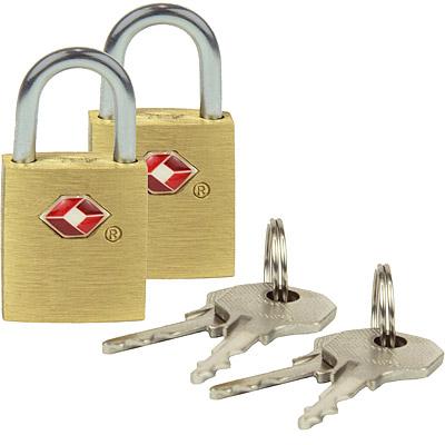 TRAVELON TSA行李鑰匙鎖2入(金)