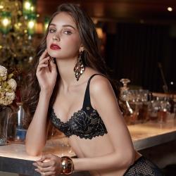 曼黛瑪璉 雙弧 內衣 D-G罩杯(黑)