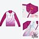 【Lynx Golf】女款吸汗速乾抗UV曲線印花長袖立領POLO衫-紫色 product thumbnail 2