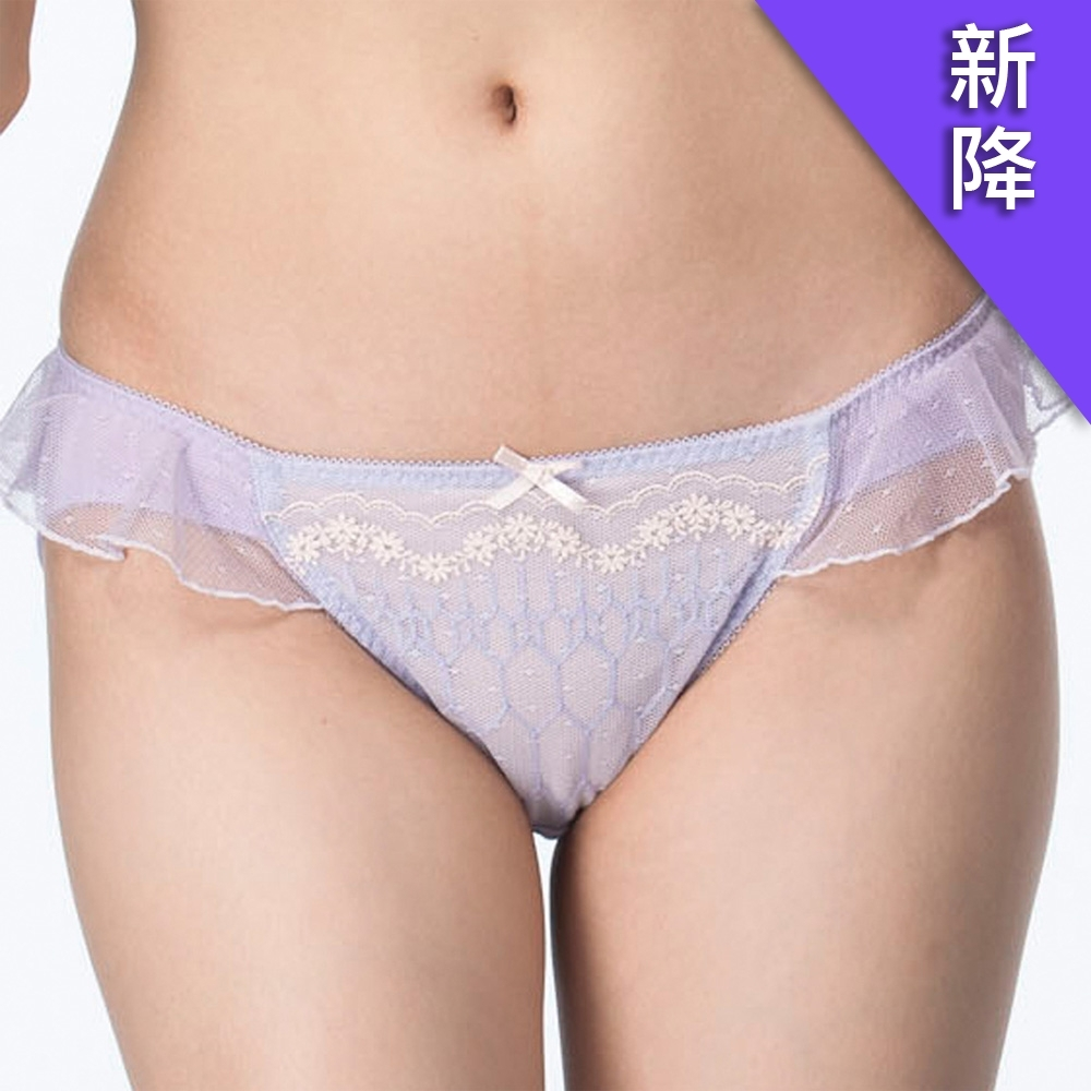 莎薇 FREE UP 親彈儷 M-LL 低腰三角褲(紫)透氣性感