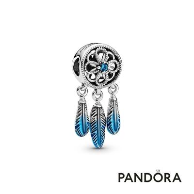 【Pandora官方直營】藍色捕夢網串飾