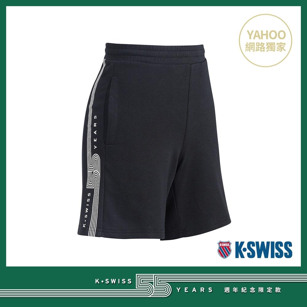 K-SWISS 55TH SWEAT SHORTS棉質短褲-女-黑