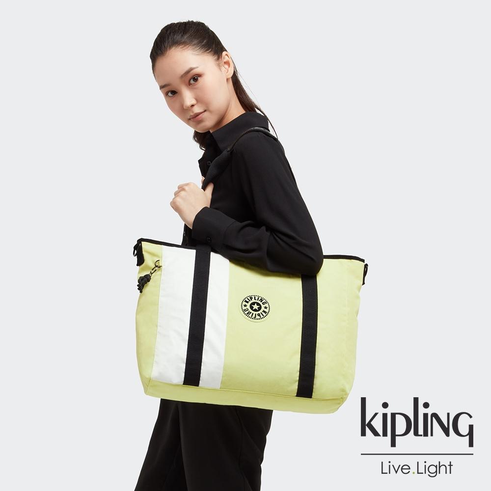 Kipling 清新牛油果綠雙炳手提斜背托特包-ASSENI MINI