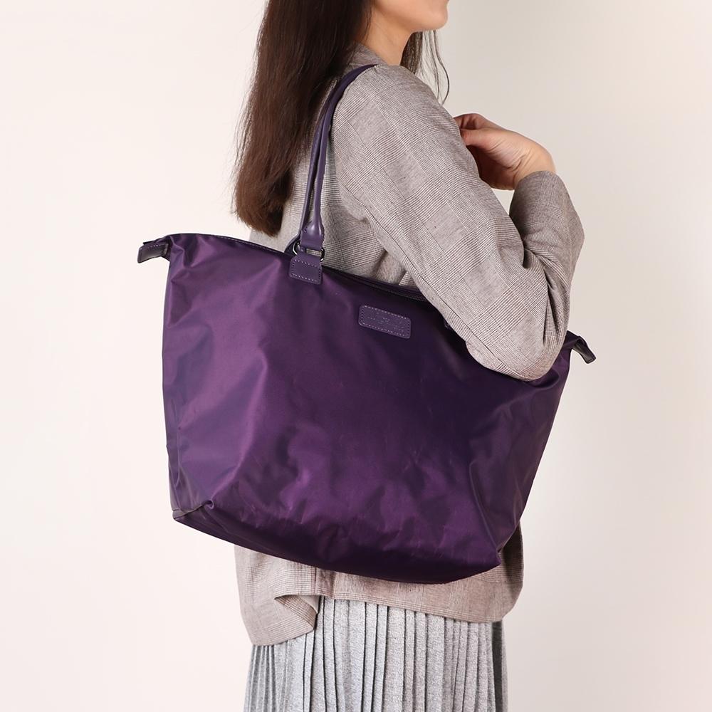 法國時尚Lipault 肩背手提兩用托特包-M(羅蘭紫)