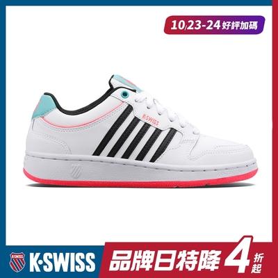 K-SWISS City Court時尚運動鞋-女-白/黑/桃紅
