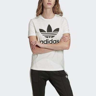 ADIDAS TREFOIL TEE 女短袖上衣-白-FM3306