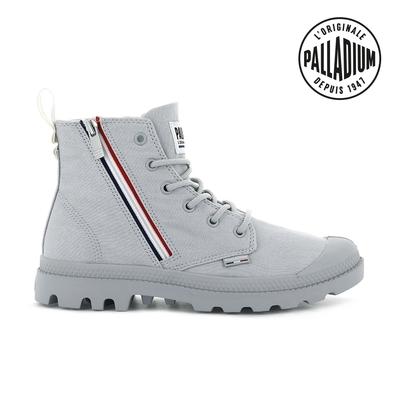 PALLADIUM PAMPA FRENCH OUTZIP法國拉鍊軍靴-中性-灰