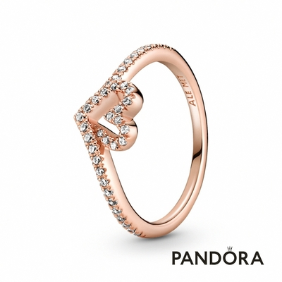 【Pandora官方直營】璀璨許願骨心形戒指