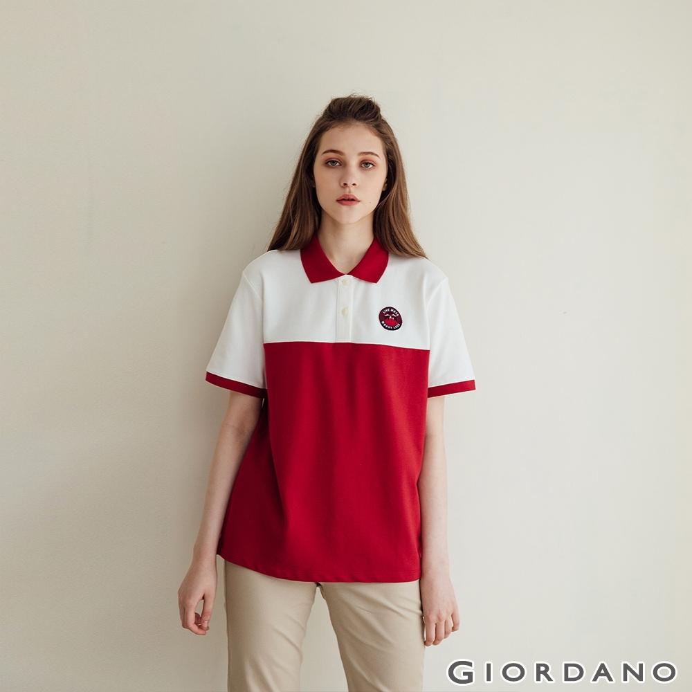 GIORDANO  女裝動物刺繡彈性POLO衫 - 02 皎雪
