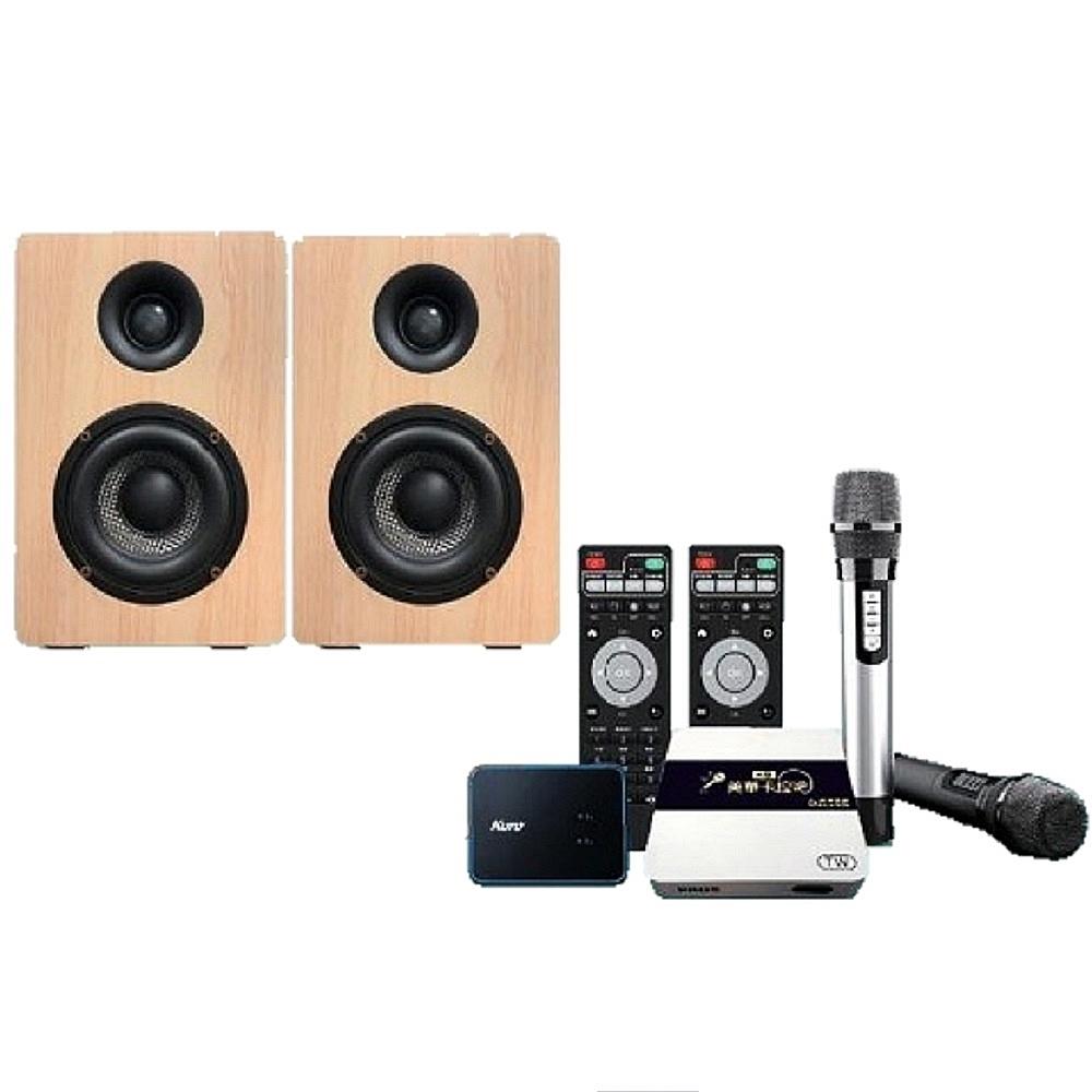 KURO 酷樂K歌AI音響+CSM-202TA 卡拉OK無線美聲麥克風專業版 附音效盒
