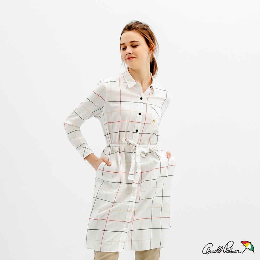 Arnold Palmer -女裝-經典格洋裝-白色