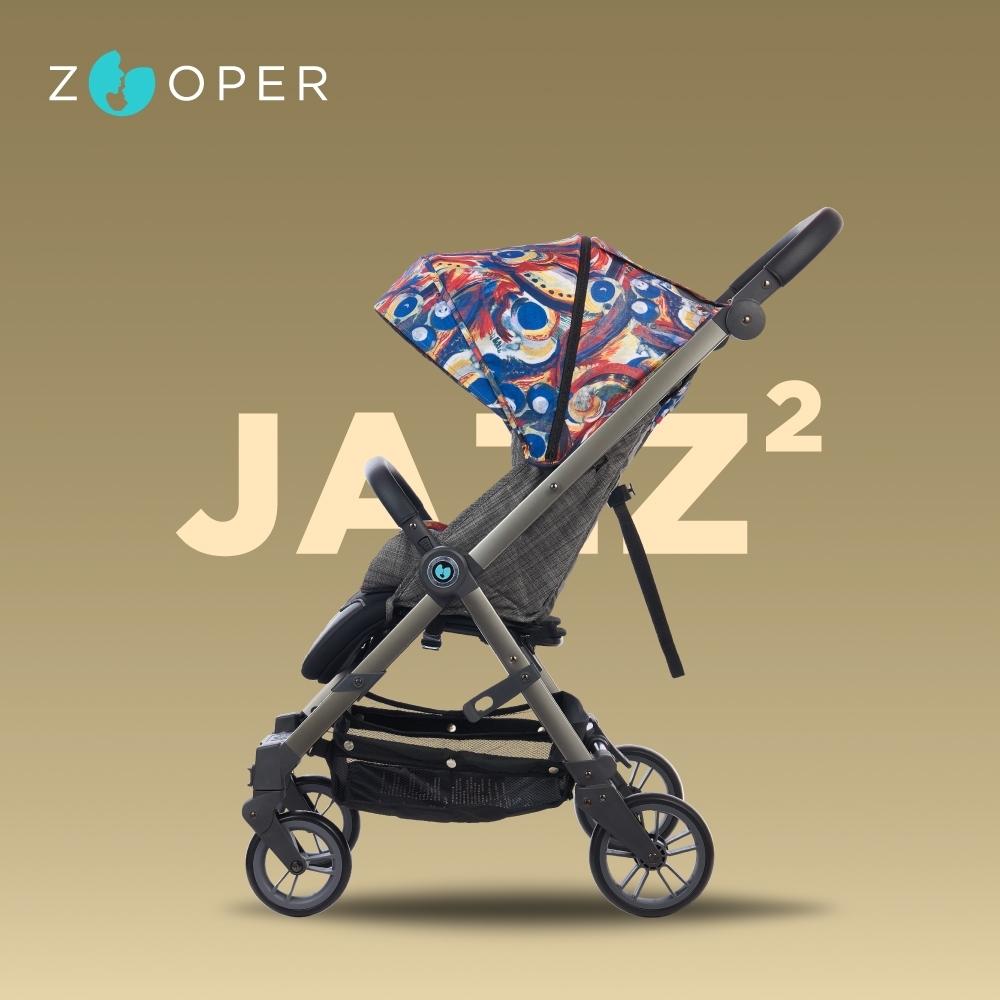【Zooper】Jazz2 時尚全能小戰車可平躺可登機秒收推車-絢彩20