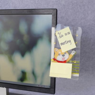 OSHI歐士 側邊留言板-柴犬米路加加油/螢幕留言板/便利貼留言板/手機座/手機架