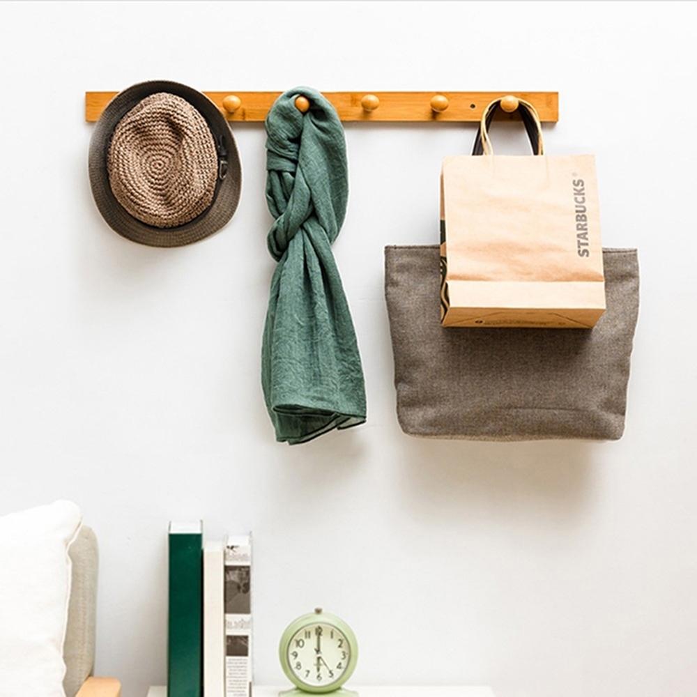 【AOTTO】多功能簡約牆上收納掛鉤 壁掛式衣帽架(掛勾 壁掛架)