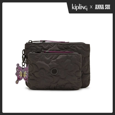 Kipling Kipling x ANNA SUI 華麗黑蝴蝶壓紋雙層收納小包-DUO POUCH