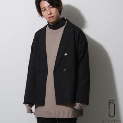 ZIP日本男裝 雙排扣寬版西裝外套 (7色)