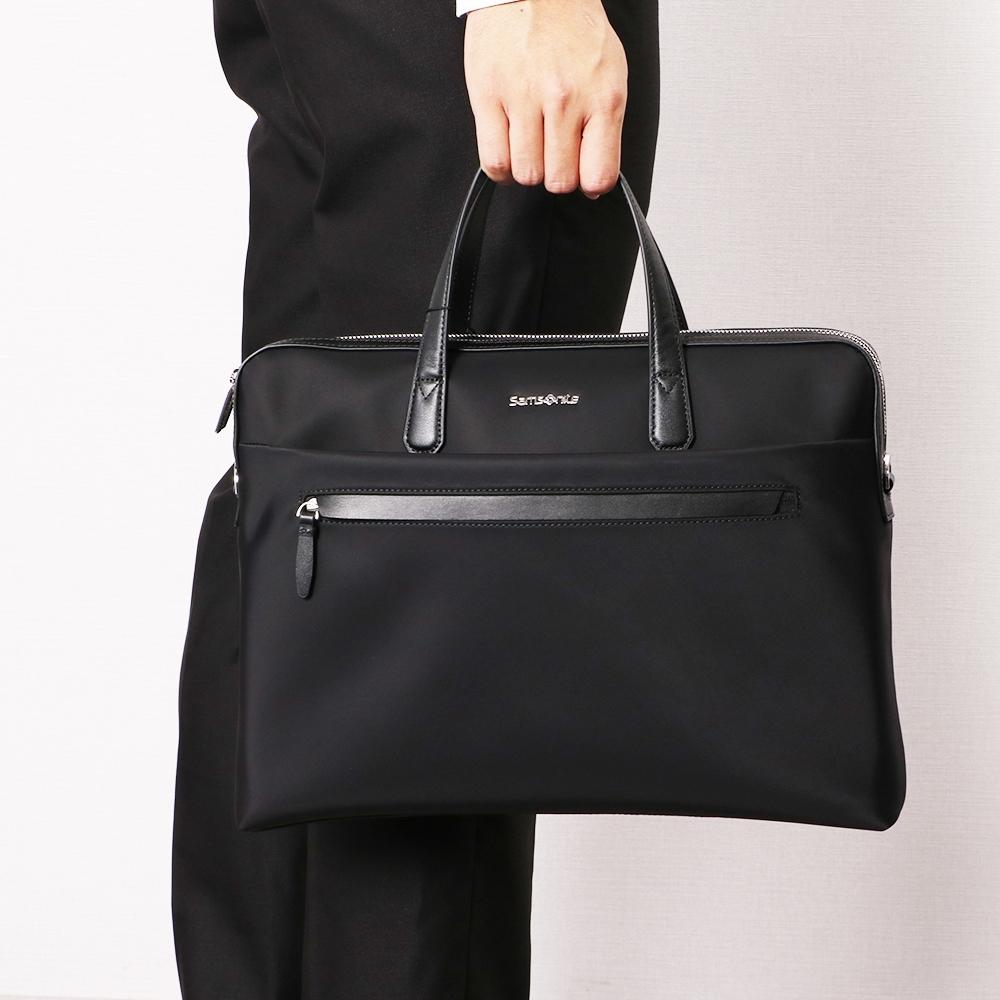 (6/1 10:00 ~6/21 10:00 送超贈點700) Samsonite新秀麗 ORLAC雙拉鍊時尚商務公事包