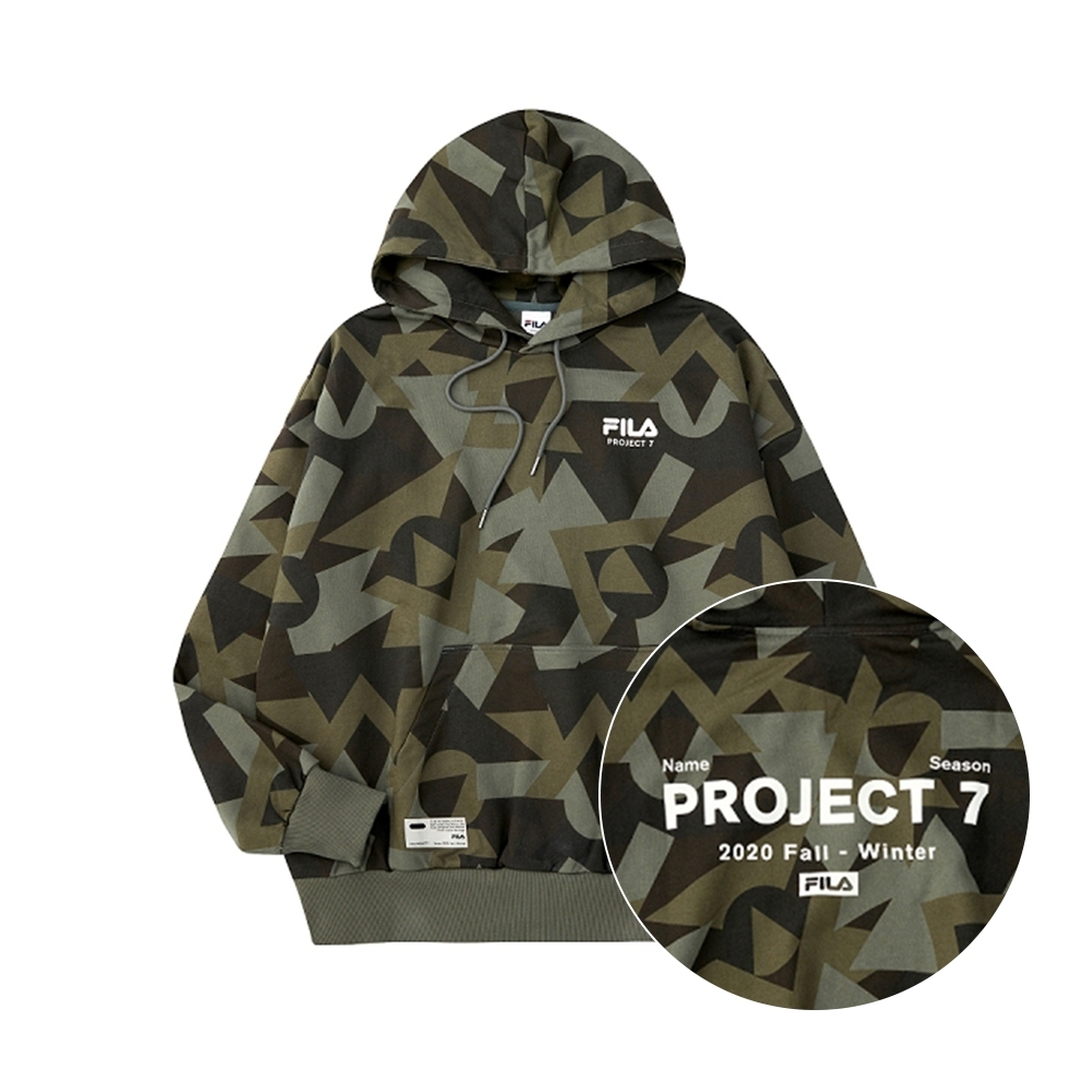 FILA #Project 7 長袖連帽T恤-迷彩 1TEU-5222-KK