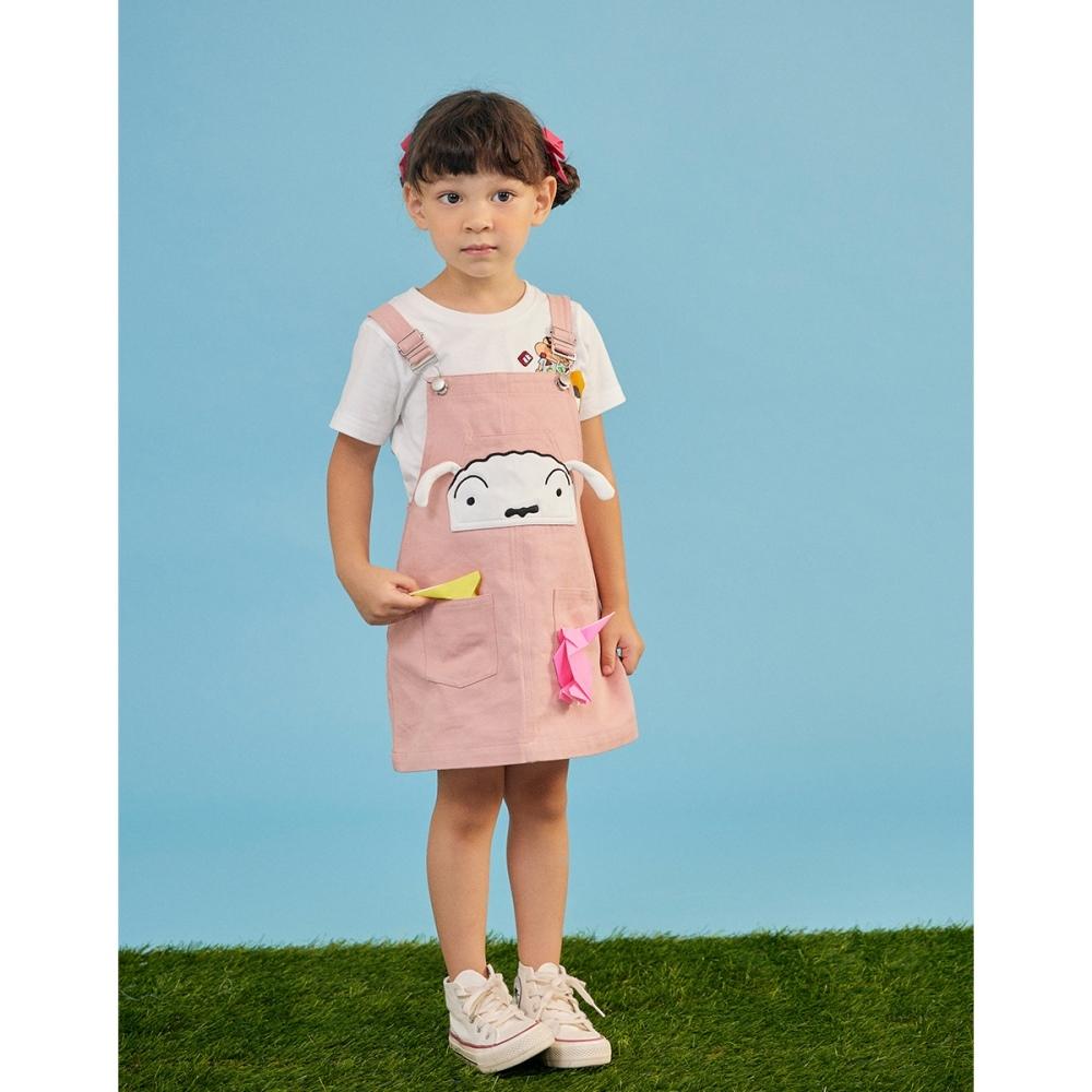 CACO-小白大臉吊帶裙-親子款-童【C3SC005】