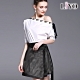LIYO理優-MIT一字領兩件式歐風鏤空蕾絲寬鬆A字連身裙洋裝 S-XL product thumbnail 1