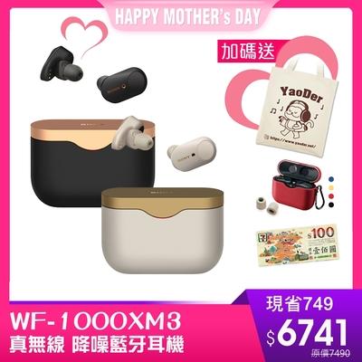 (送7-11百元卷+果凍套+耳塞+帆布袋)SONY WF-1000XM3 旗艦級真無線 降噪藍牙耳機