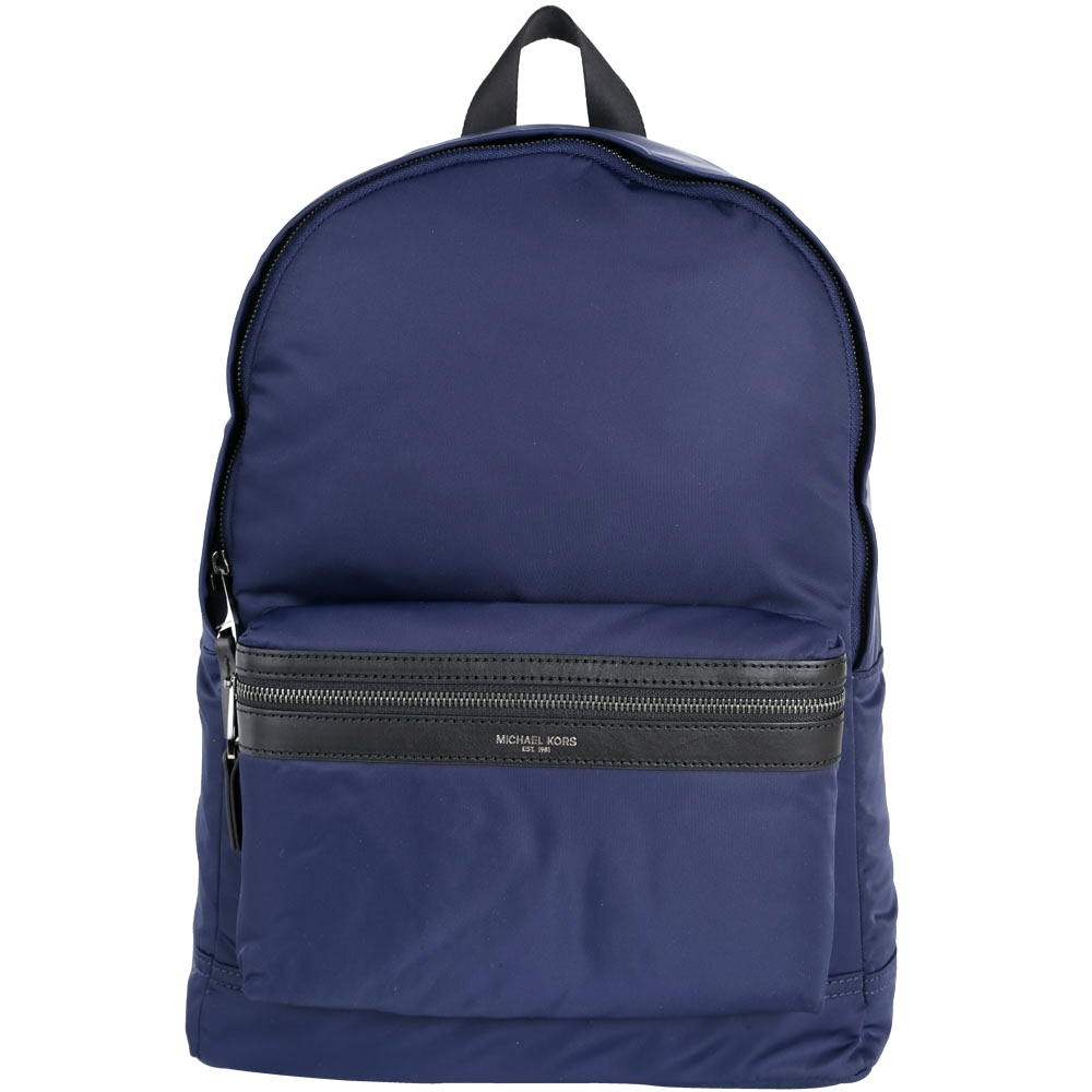 Michael Kors Kent Nylon 前袋設計尼龍後背包(深藍色)