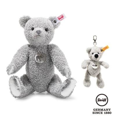 STEIFF德國金耳釦泰迪熊  Platinum Paper Teddy bear 鉑金灰紙泰迪熊 (限量版)