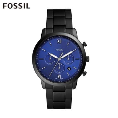 FOSSIL NEUTRA CHRONO 新雅仕黑色鍊帶計時男錶 44MM FS5698