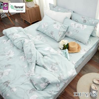 DUYAN竹漾-3M吸濕排汗奧地利天絲-雙人床包被套四件組-淺青花語