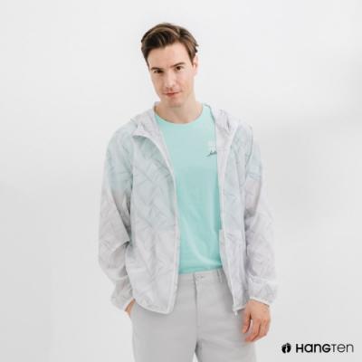 Hang Ten-中性款-恆溫多功能-防輕潑水自收防風外套-白色